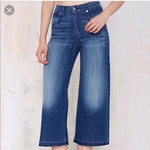 7 For All Mankind Cutoff Capri Jeans Wide Leg 29